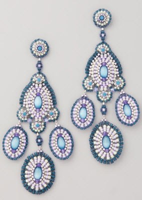 Miguel Ases Bead And Crystal Chandelier Earrings 171 Shefinds