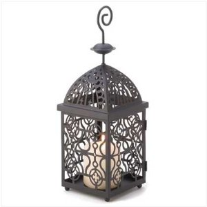 Moroccan Birdcage Iron Candle Holder Hanging Lantern