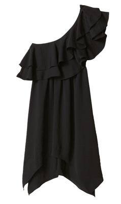 Rebecca Taylor One-shoulder ruffled dress