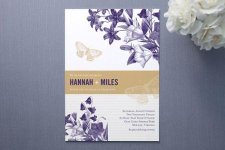 Summer Gardens Wedding Invitations