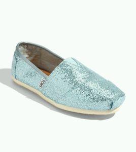 TOMS Classic Blue Glitter Slip-On