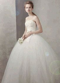 Taffeta Ball Gown with Floral Embroidery on Bodice