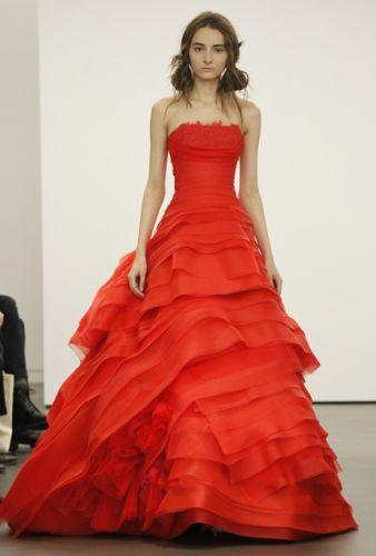 Vera Wang Red Wedding Dresses | Bridal Market 2013