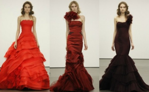 Vera Wang Red Wedding Dresses | Bridal Market 2013