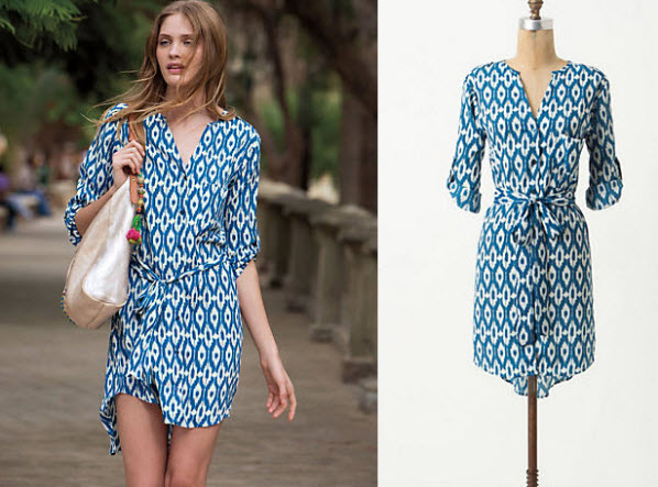 Ikat Summer Dresses with Sleeves