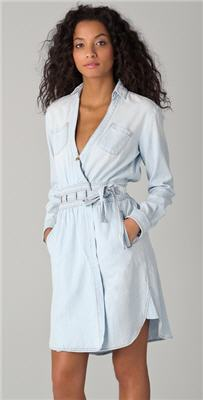 DVF Loves Current / Elliott Denim Wrap Dress