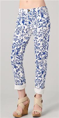 DVF Loves Current / Elliott Relaxed Straight Leg Jeans