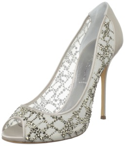 Casadei Women's 8029 Jeweled Peeptoe Pump