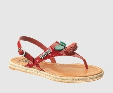Anna Sui for Hush Puppies Cherry Toe Post