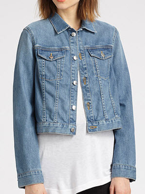 BLK DNM Classic Cropped Denim Jacket