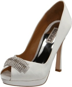 Badgley Mischka Platinum Women's Julia Open-Toe Pump
