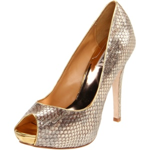 Badgley Mischka Women's Willoe Peep-Toe Pump
