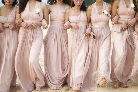 We Re Smitten With Blush Bridesmaid Dresses This Is Not A Trend Or Anything New To Bridal But These Pale Pink Are Just Gorgeous For Photos And