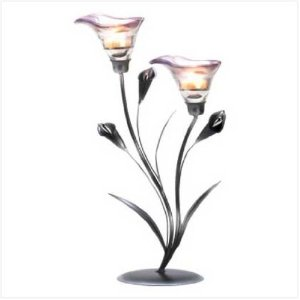 Calla Lilly Wedding Centerpiece Candleholder
