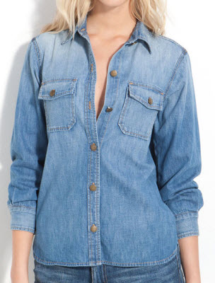 Current Elliot The Perfect Denim Shirt