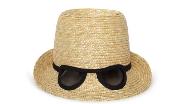 Kate Spade Dunes Lane Straw Cat Eye Sunglasses Hat