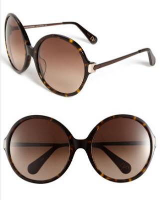 DVF Lais Oversized Round Sunglasses