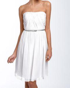 Donna Morgan Belted Chiffon Dress