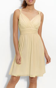 Donna Morgan Ruched Chiffon Dress