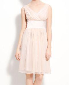 Donna Morgan Satin & Pleated Chiffon Dress