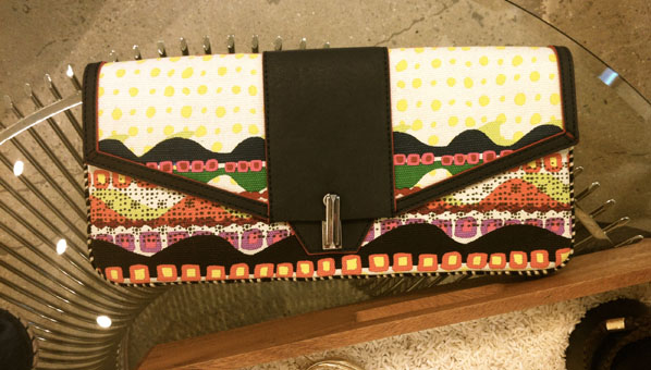 Envelope Canvas Clutch Yrouba & Navy