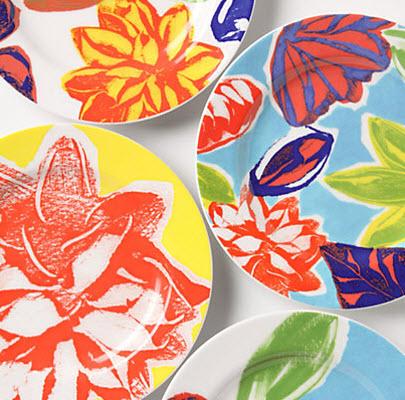 Floral dessert plates