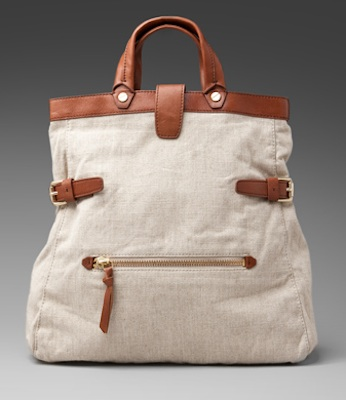 Foley + Corinna Buckled Tote in Linen