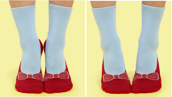 Fred Flare Dorothy Ruby Slipper Socks