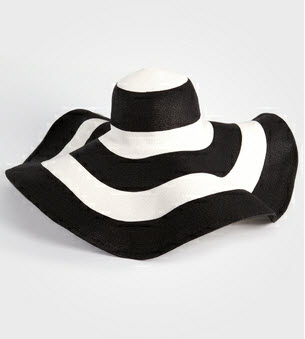1. Oversize summer hat