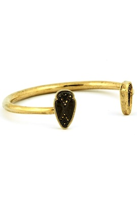 House of Harlow 1960 Double Arrowhead Cuff with Gold Pave