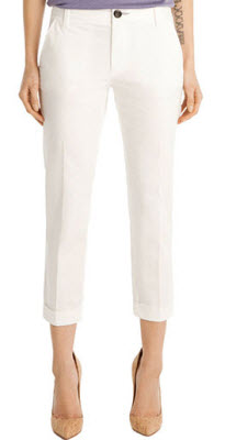 J Brand white trousers