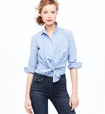 10. Gingham top