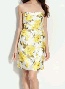 Kate Spade New York Faye Strapless Silk Dress