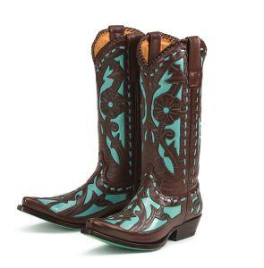 Wedding Cowboy Boots | Cowboy Boots Bridesmaids | Floral Cowboy ...