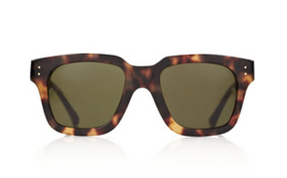 Linda Farrow Luxe Square Frame Acetate Sunglasses