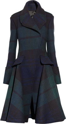 McQ Alexander McQueen The Black Watch Plaid Coat