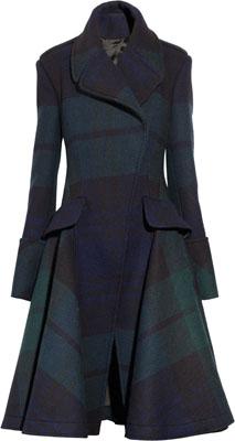 McQ Alexander McQueen The Black Watch Plaid Coat