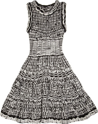 McQ Alexander McQueen The Mouline-Knit Dress