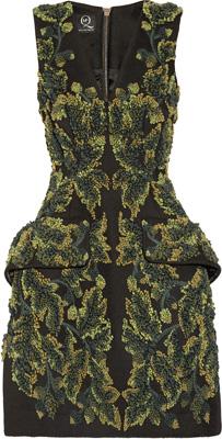 McQ Alexander McQueen The Silk-Chiffon Embellished Dress