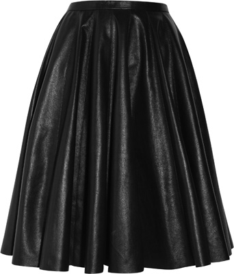 McQ Alexander McQueen The Pleated Leather Skirt