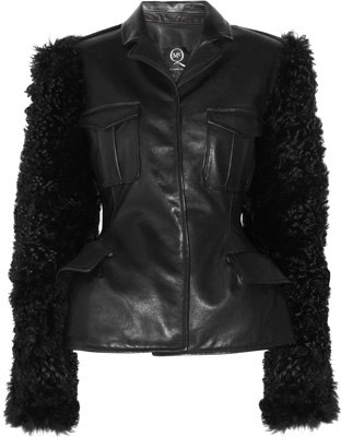 McQ Alexander McQueen Leather and Shearling Jacket