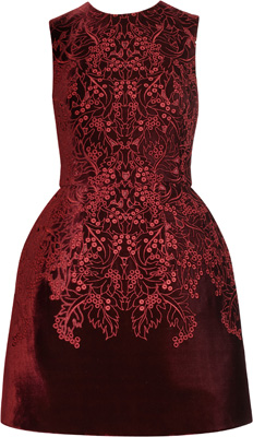 McQ Alexander McQueen The Broderie Anglaise Velvet Dress
