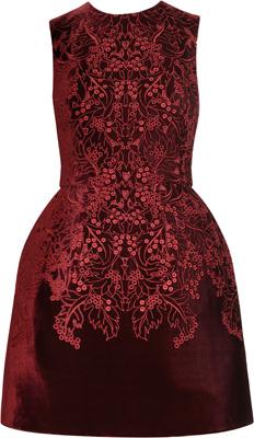 McQ Alexander McQueen The Broderie Anglaise Velvet Dress