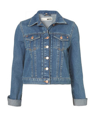 Moto 70's Vintage Denim Jacket