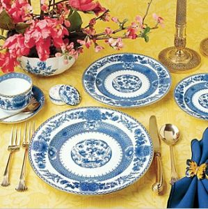 3. A set of expensive China in a timeless pattern.