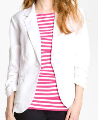 Olivia Moon Linen Blend Blazer