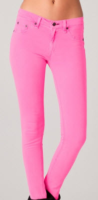 Rag & Bone JEAN The Legging Jean in Neon Pink