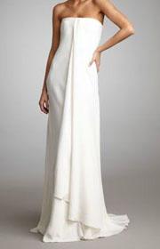 Ralph Lauren Strapless Draped Gown