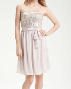 Rebecca Taylor Strapless Sequin Bodice Dress