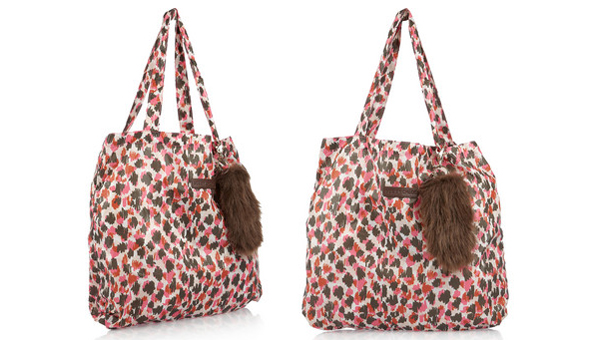 See by chloe printed nylon tote with keyfob